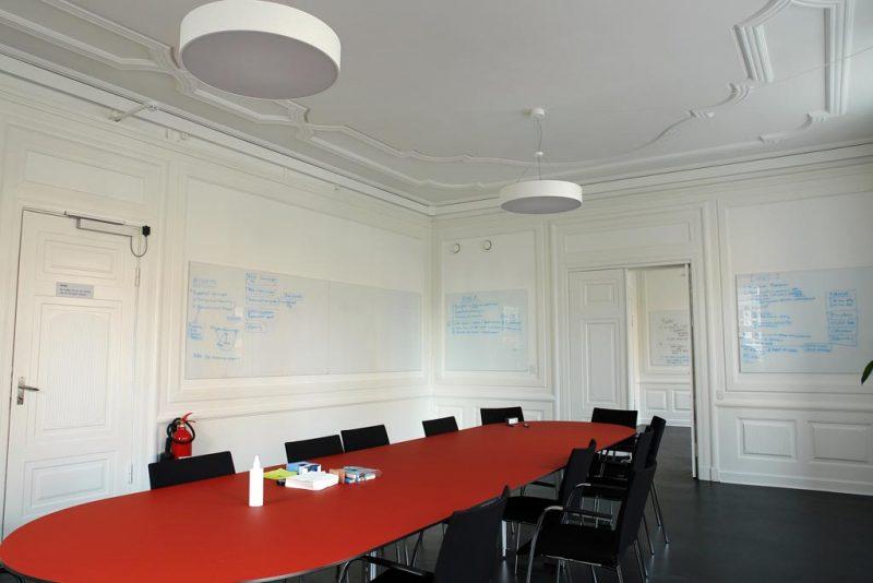 Akustikpuds - Akustikloft: i mødelokale Studiestræde - København
