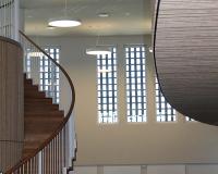 Akustikpuds – Akustikloft Runde-former-i-kontrolrum