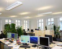 Akustikpuds – Akustikloft: Kontorer – Sydbank – Gråsten