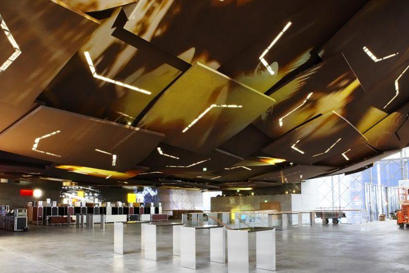 Akustikpuds - Akustikloft: DR-byen - Foyer under koncertsal